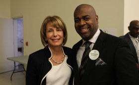 Councilman Ras Baraka with Democratic Candidate for Governor Barbara Buono In Newark