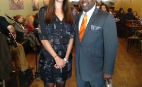 Councilman Baraka with Miss Brazil in the East Ward