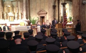 Councilman Baraka at Newark Fire Department Graduation