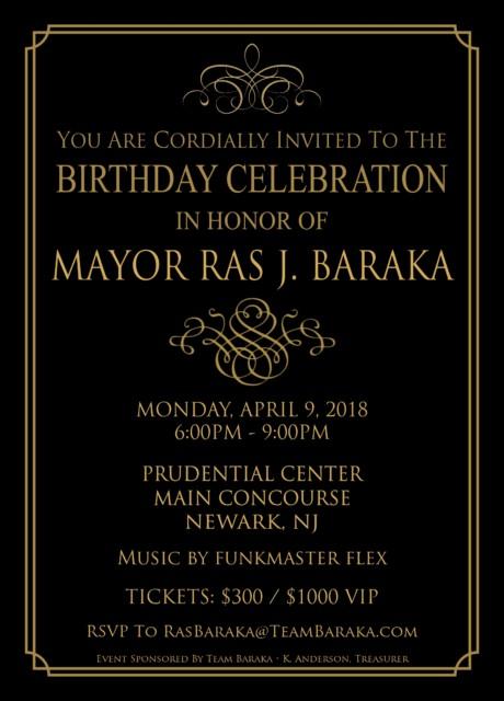 MAYOR RAS BARAKA ANNUAL BIRTHDAY CELEBRATION